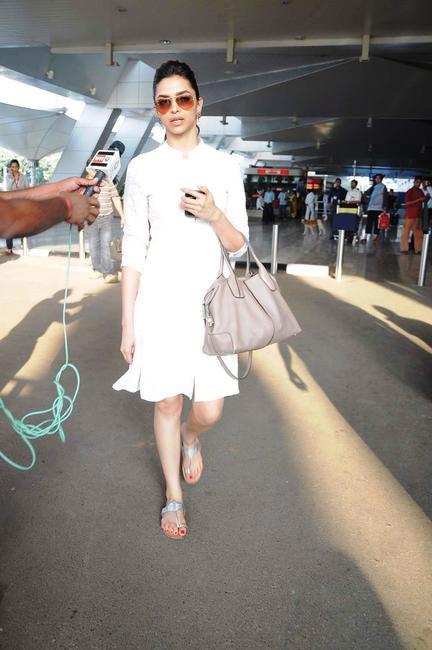 Deepika Padukone carrying Tod's D-bag