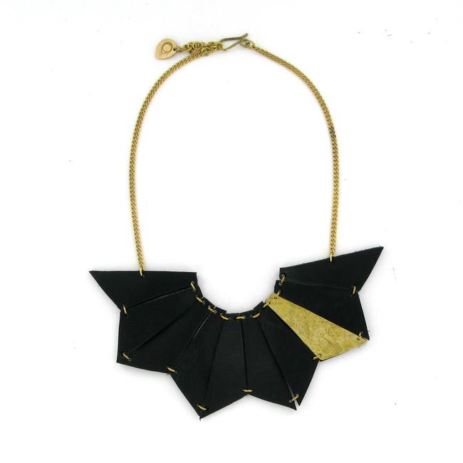 E.A. Burns for Made Mauteme leather necklace