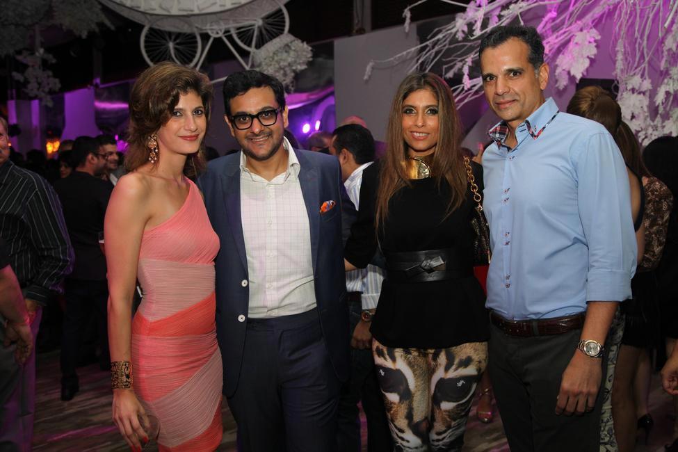 Farah Oomerbhoy,Gaurav Bhatia, Marketing Director, Moet Hennessy India ,Roohi & Chetan Jaikishan