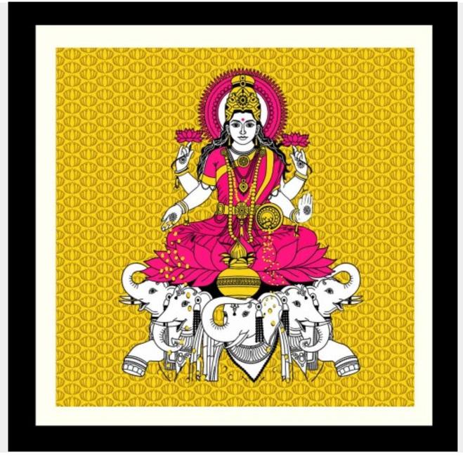 Lakshmi wall print, Tadpolestore.com, Rs 2,880