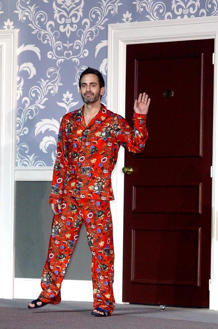 Marc Jacobs stepped out in PJs after his FW 2013 show for LV