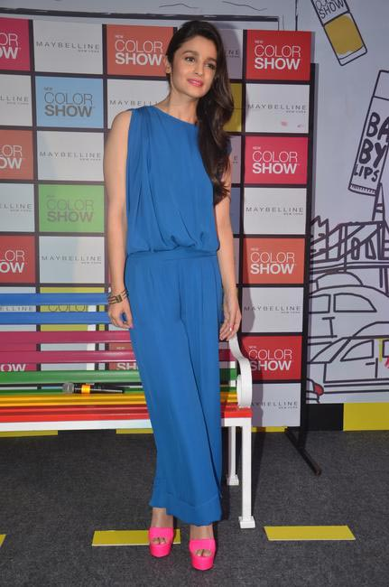 Maybelline Brand Ambassador Alia Bhatt at the launch of Color Show Nail Color Range  by Maybelline