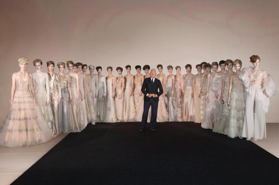 Mr. Armani and models