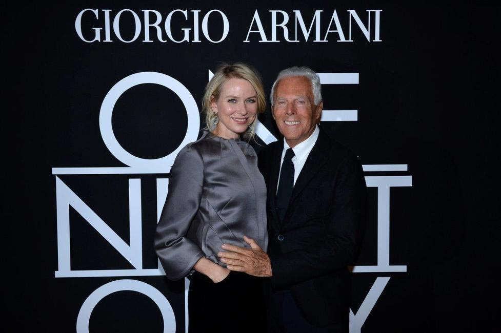 Mr. Armani and Naomi Watts