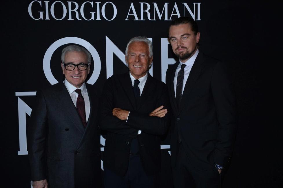 Mr. Armani, Leonardo Di Caprio and Martin Scorsese
