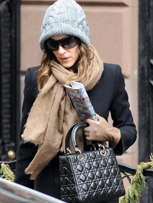 Sarah Jessica Parker with her Lady Dior