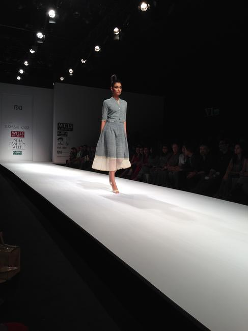 Urvashi Kaur surprised us with clean lines and muted colours
