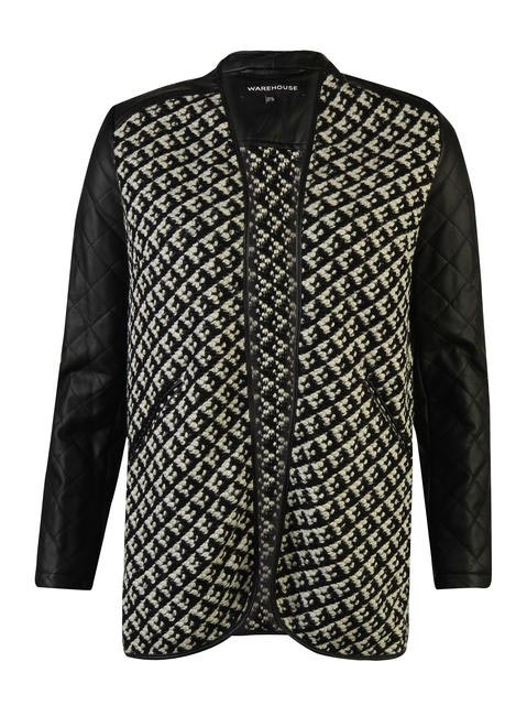 Warehouse Quilted Faux Leather Sleeve Jacket Rs. 6400