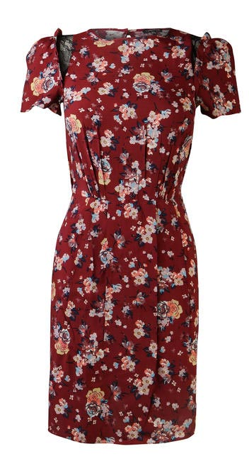 Warehouse Red Floral Print Skater Dress Rs. 4000