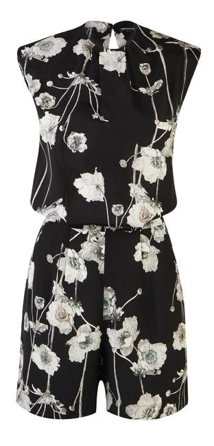 Warehouse Trailing Stem Floral Playsuit Rs. 2200
