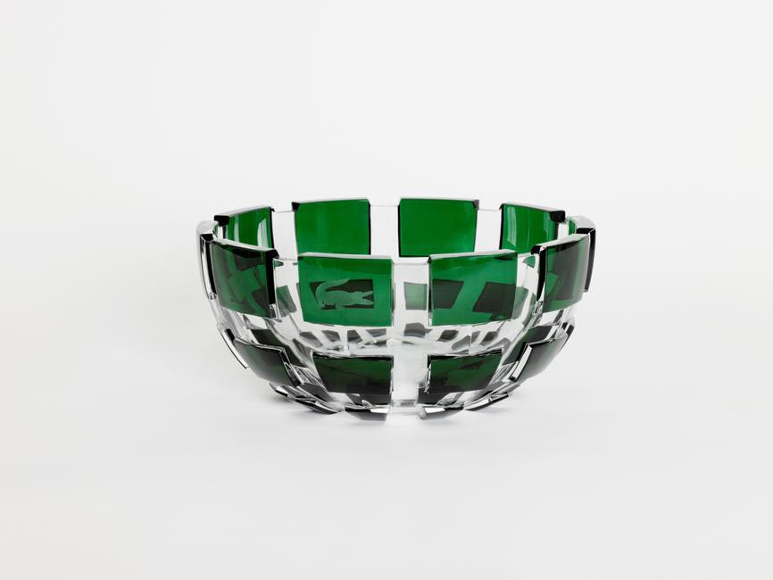 Baccarat creation - a crystal vase inspired by the tennis and golf trophies that René Lacoste, his wife, daughter, and all of the Lacoste champion...