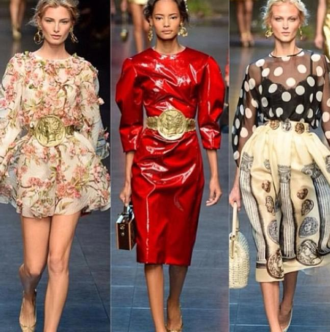 Dolce & Gabbana at Milan Fashion Week via @StefanoGabbana