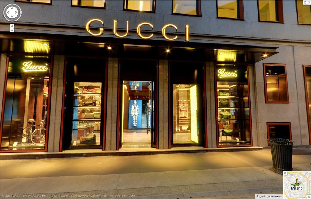 Gucci Store as seen on Google Maps