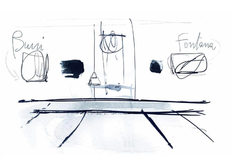 Inspiration behind Tod's Milan Fashion Week runway show's set-up was interiors of an Italian home