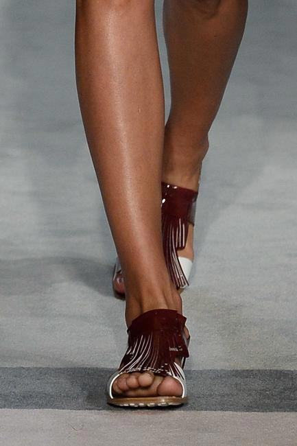 Mocassin-inspired fringe on shoes were delicious