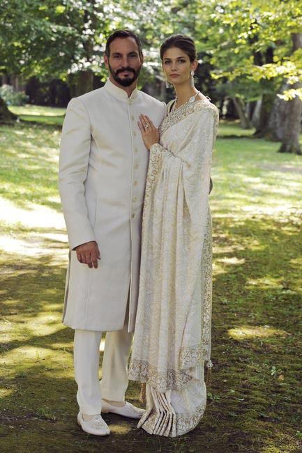 Prince Rahim Aga Khan & Princess Salwa in 'Manav Gangwani Timeless Collection'