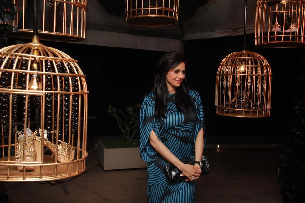 Sridevi checks out products inside cages