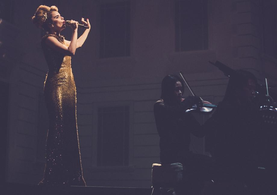 Burberry brings London to Shanghai - British musician Paloma Faith performing live at the event