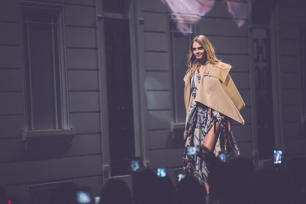 Burberry brings London to Shanghai - Cara Delevingne walking the runway