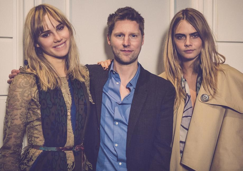 Burberry brings London to Shanghai - Christopher Bailey, Suki Waterhouse and Cara Delevingne backstage at the event