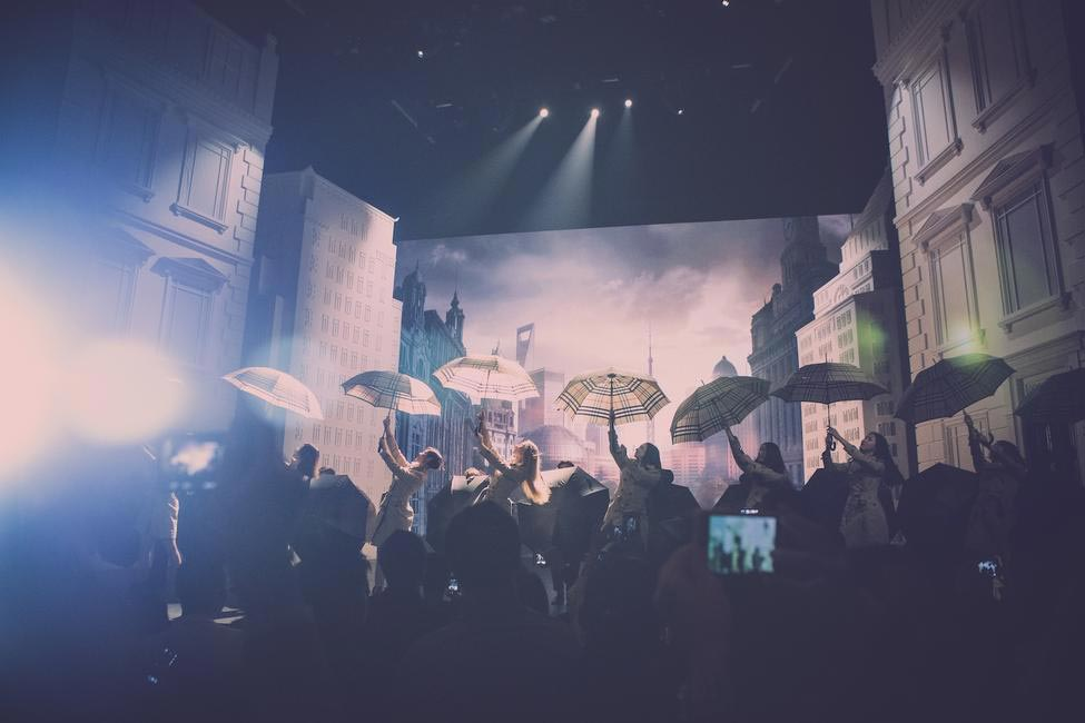 Burberry brings London to Shanghai - Dancing Umbrellas