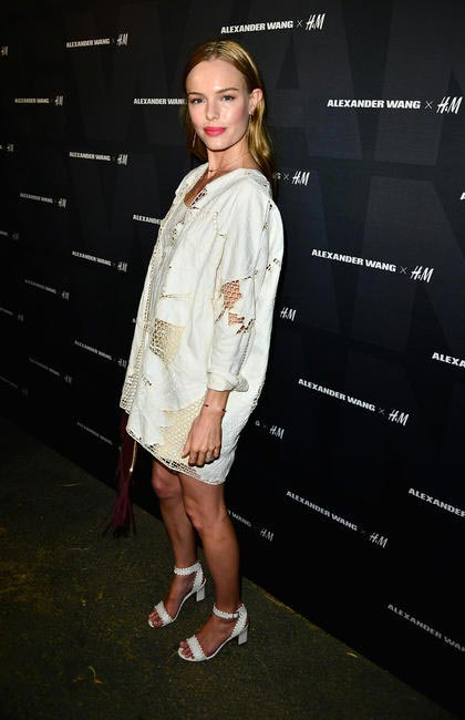 Kate Bosworth arrives at the Alexander Wang X H&M Coachella Party
