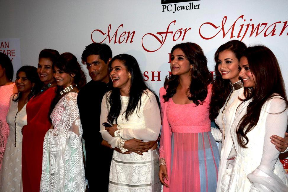 Namrata Goyal, Shabana Azmi, Tanisha Mukherjee, Manish Malhotra, Kajol, Parineeti Chopra, Dia Mirza and Aditi Rao Hydari