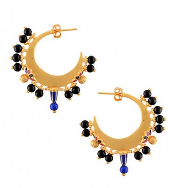 Black Draco Earrings by Amrapali
