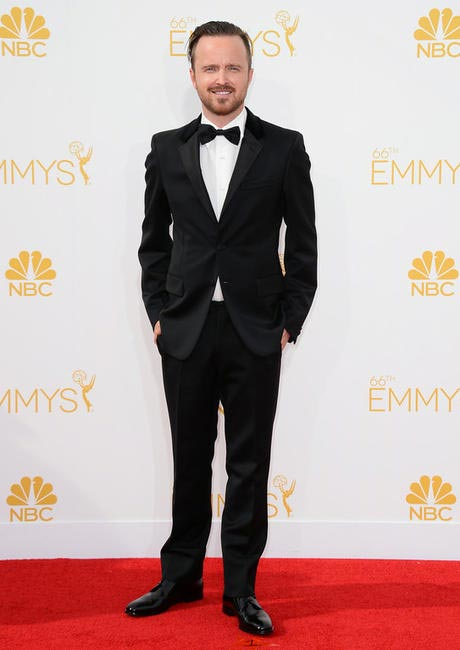 Breaking Bad's Aaron Paul arrives at the 66th Annual Primetime Emmy Awardjpg