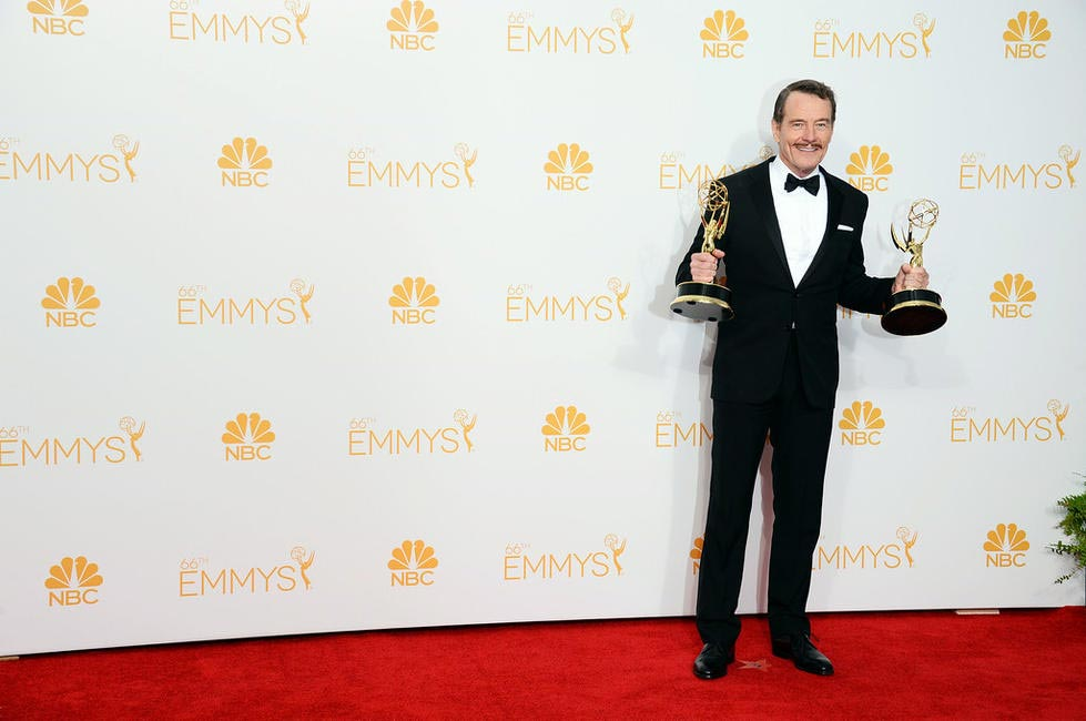 Bryan Cranston, winner of the award for outstanding lead actor in a drama series for his work in Breaking Bad,