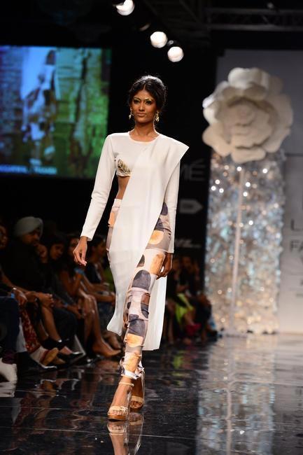 Cut-out sari gown