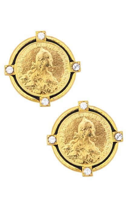 Gold plated earrings, Bansri