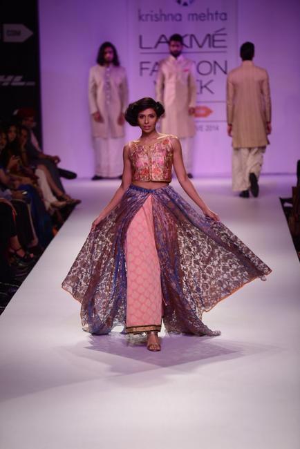 Krishna Mehta's collection at LFW 2014