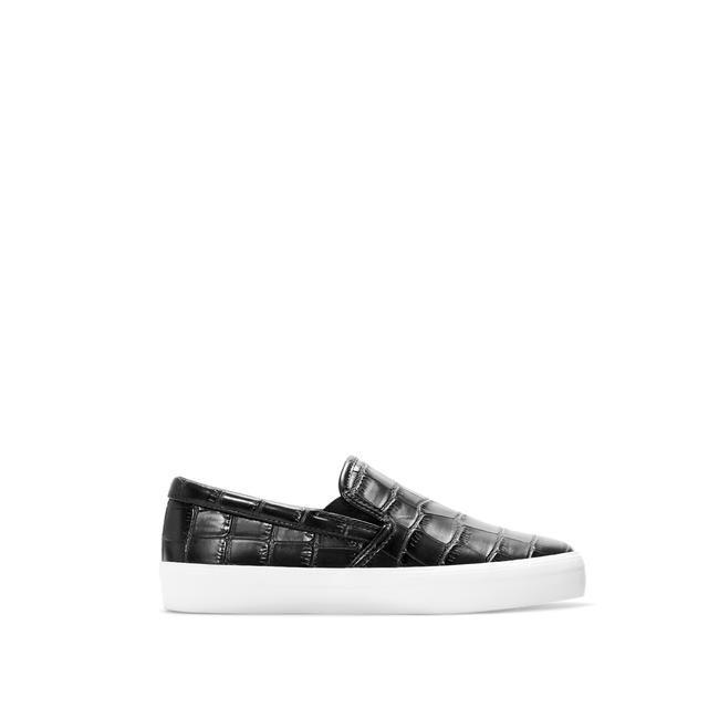 Leather slip-ons, Zara