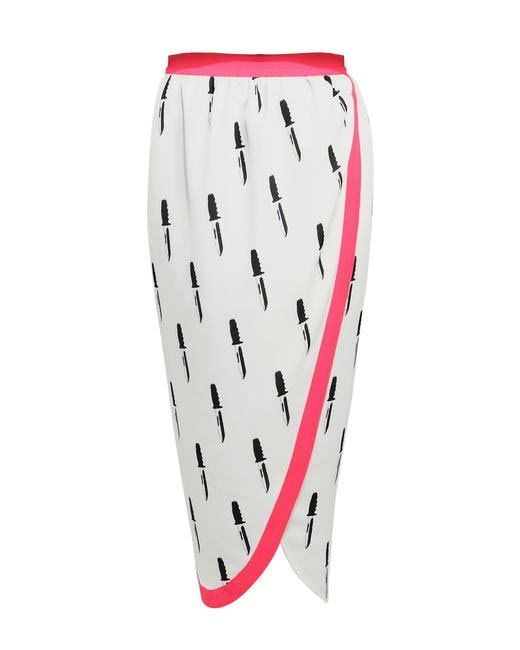 Masaba Gupta knife print dhoti skirt for Stylista.com