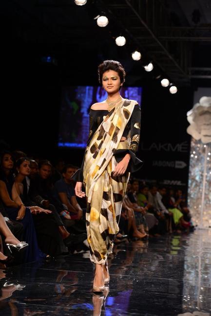 Printed sari dress