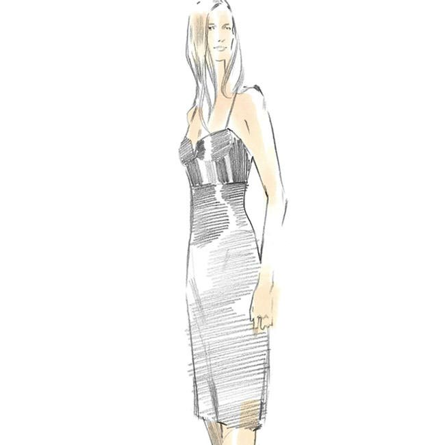 Sketches for Calvin Klein Collection