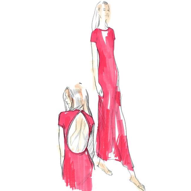 Sketches for the Calvin Klein Collection