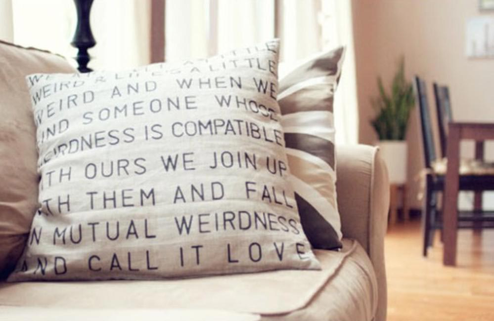 Text Cushion Covers