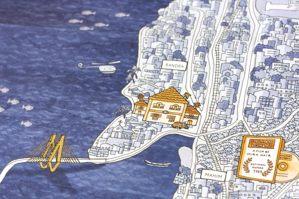 Beautiful illustration that map out Mumbai's geography