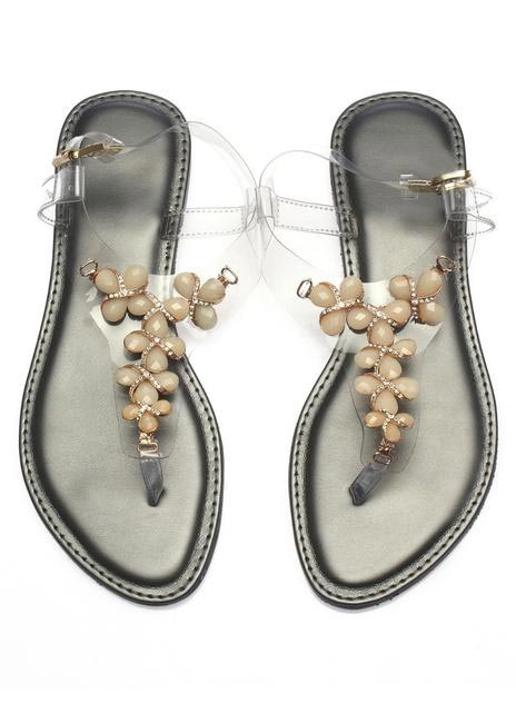 Embellished Clear Sandals, The Closet Label, INR 1,650