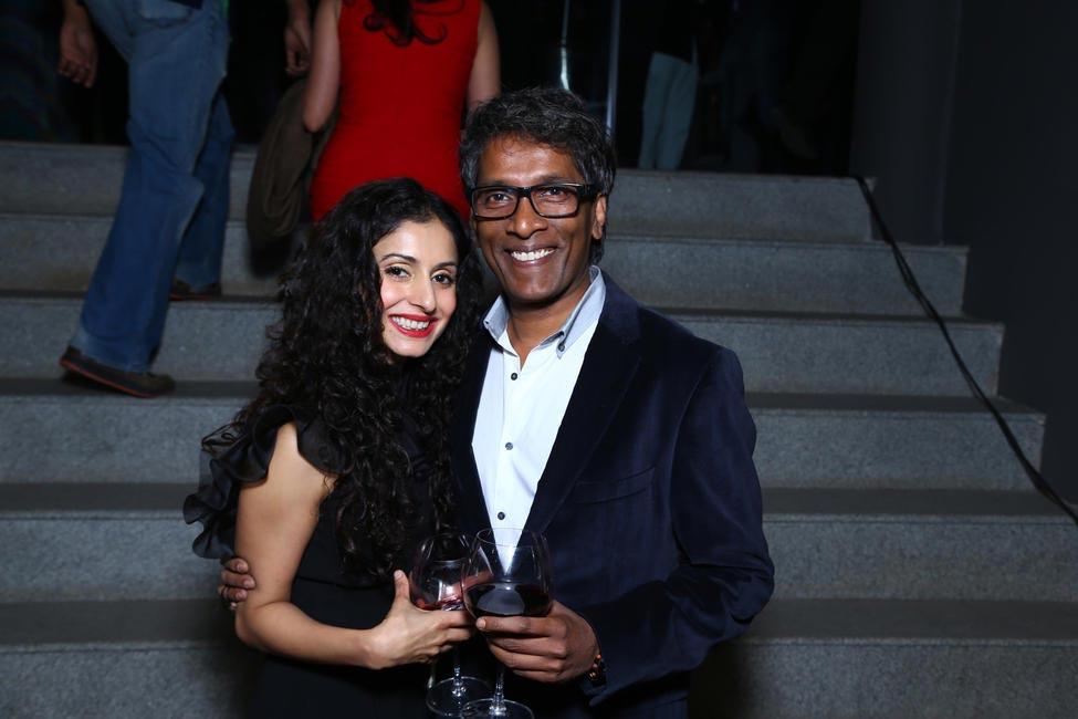Gauri Karan with Vinod Nair
