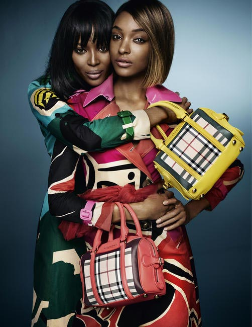 Models Naomi Campbell and Jourdan Dunn