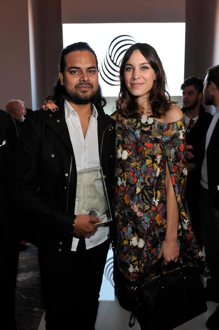 Alexa Chung and the winner Raul Mishra