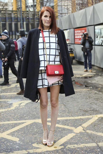 Amber from Reward Style Spotted At London Fashion Week AW 2014