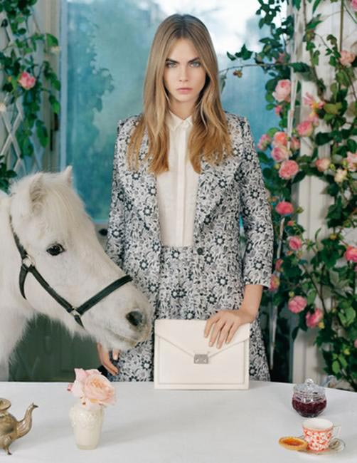 Cara Delevingne for Mulberry Spring-Summer 2014 Campaign