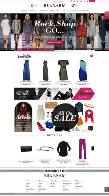 Exclusive first look at Rocknshop.com - Homepage