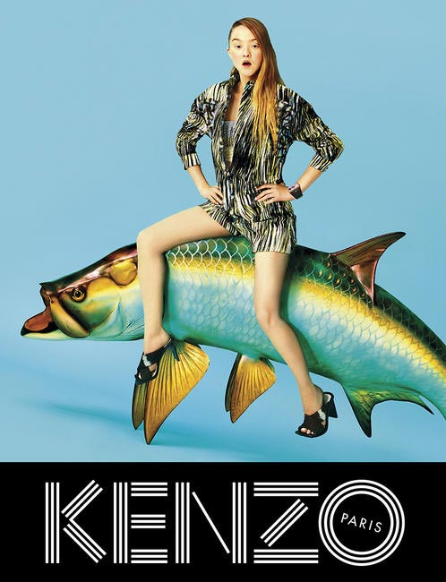 Kenzo never fails to surprise, their Spring 2014 campaign is brilliantly fantastic