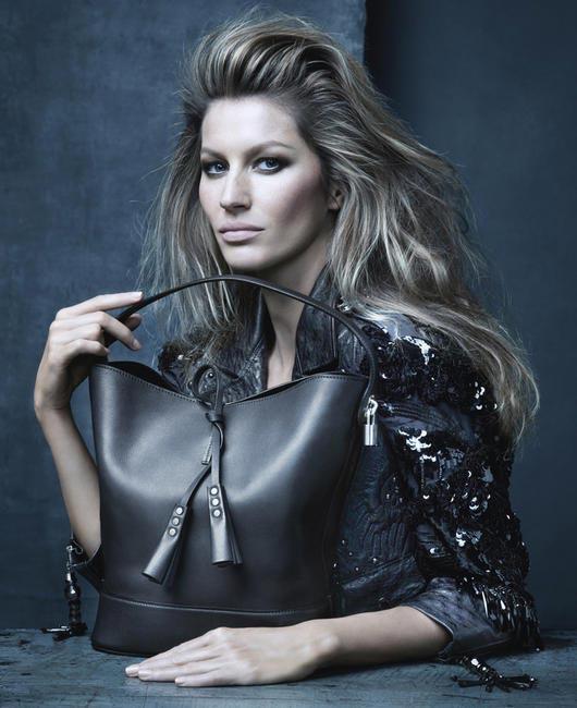 Louis Vuitton SS 2014 bags campaign featuring Gisele Bündchen