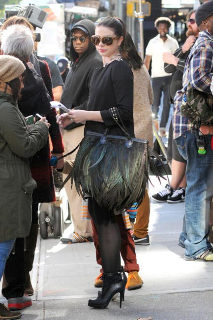 Michelle Trachtenberg  (Georgina Sparks) With Her Angel Jackson The Lakota Feather Tote